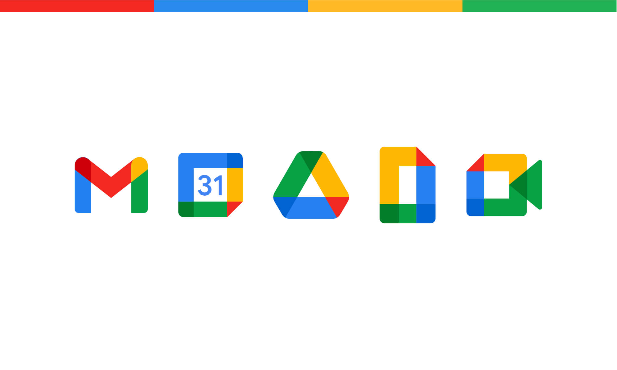Images  of the logos of google apps