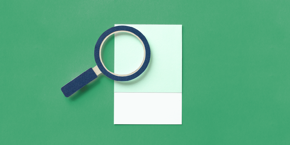 Image of a magnifying glass made out of paper