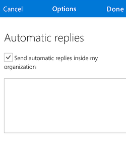 setting automatic replies in Microsoft Outlook
