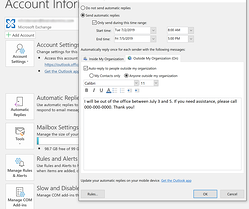 writing external reply in Outlook
