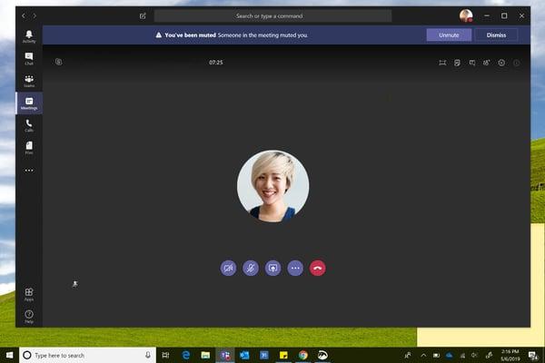 Start a meeting in Microsoft teams