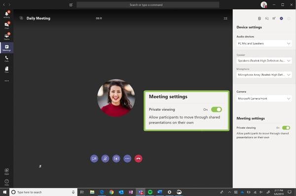 Schedule a meeting using microsoft teams
