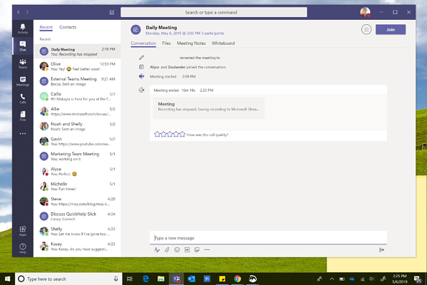 How to have a meeting using Microsoft Teams
