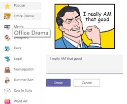 memes in Teams (Office 365 tool)