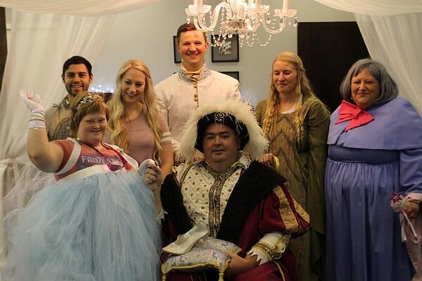 A group of people dressed as fairytale characters