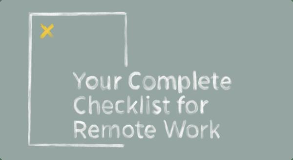 Remote work checklist ( Asset Page ) Image