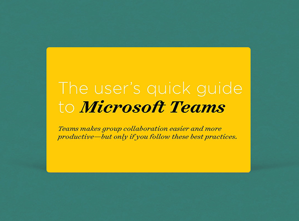 The users quick guide to Microsoft Teams ( Thank you )