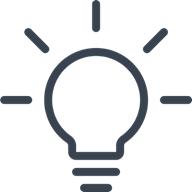 Illustration of a light bulb within desktop efficiency blog post.