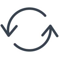 Illustration of system update arrows.