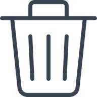 Illustration of recycle bin.
