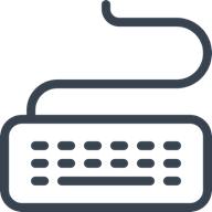 Illustration of computer keyboard for desktop productivity.