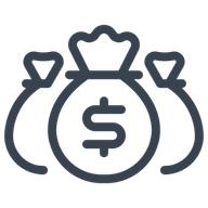 Illustration of money bags.